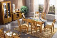一桌六椅餐厅套装